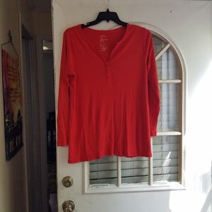 Gap maternity orange Henley shirt size xl